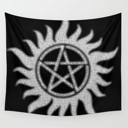 Carry On Supernatural Pentacle Wall Tapestry