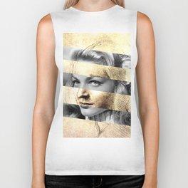 """Leonardo's """"Head of a Woman"""" & Lauren Bacall Biker Tank"""