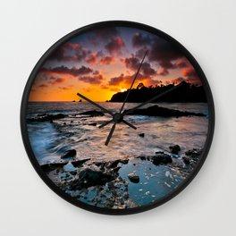 Crescent Bay Sunset  6/13/14 Wall Clock