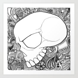 Silent Skull Art Print