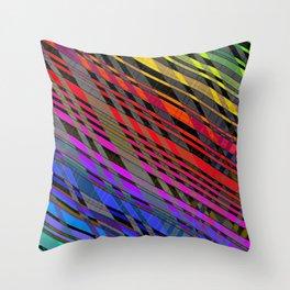 broken stripes Throw Pillow