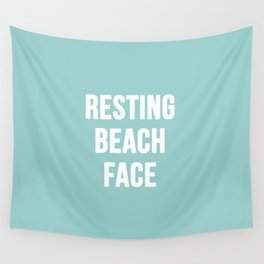 Resting Beach Face Wall Tapestry