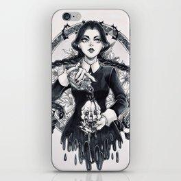 Miss Wednesday Addams iPhone Skin