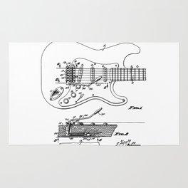 Guitar Tremolo Patent Black Rug