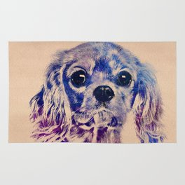 Cavalier King Charles Spaniel Puppy Rug