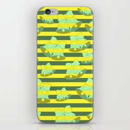 Christmas bells and stripes iPhone Skin