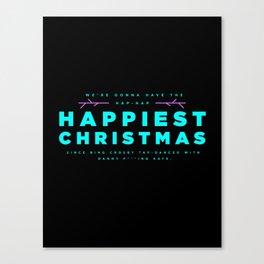 HAPPIEST CHRISTMAS Canvas Print