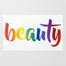 Rainbow Beauty #typography #society6 Rug