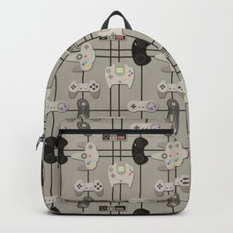 Paper Cut-Out Video Game Controllers Backpack