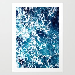 Wild Ocean Waves, Ocean Water Art Print