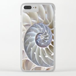 Nautilus Shell Clear iPhone Case