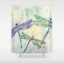 Xenas Dragonfly Shower Curtain