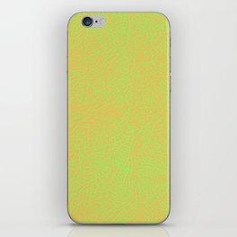 Lime Green Orange Elephant Skin iPhone Skin