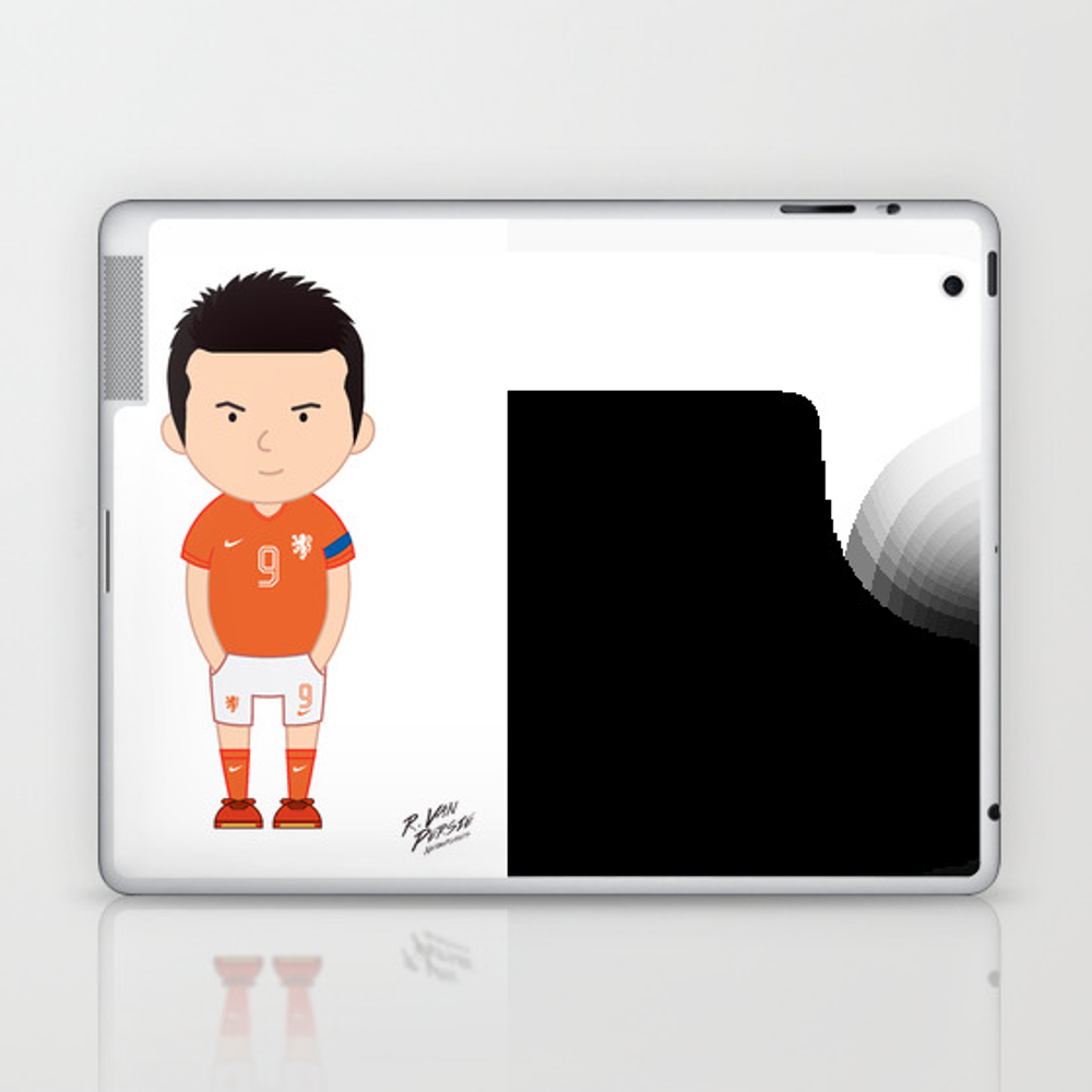 Robin Van Persie - Netherlands - World Cup 2014 Laptop & Ipad Skin by Toonsoccer LSK9019159