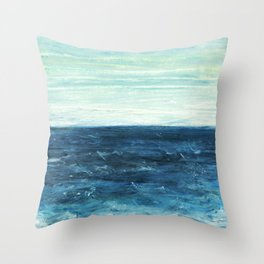 Horizon at the Baltic sea Throw Pillow