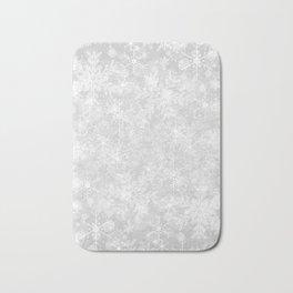 Silver Snowflakes Bath Mat