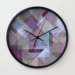 PLUM TURQUOISE ABSTRACT GEOMETRIC Wall Clock