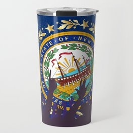 New Hampshire State Flag with Audience Travel Mug