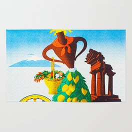 Vintage Sicilia Italia - Sicily Italy Travel Rug