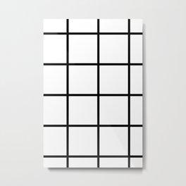 Big Grid Pattern Metal Print