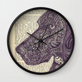Catahoula Doodle Wall Clock