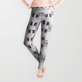 Roses Black Widow Leggings