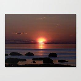 Shock-wave Sunset Canvas Print