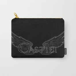Castiel with Wings Black Carry-All Pouch