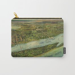 Panoramic view of West Palm Beach, North Palm Beach and Lake Worth, Florida (1915) Carry-All Pouch