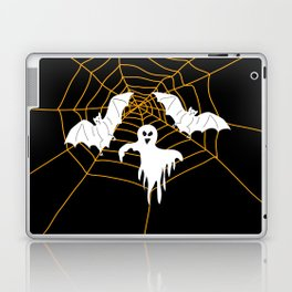 Bats and Ghost white - black color Laptop & iPad Skin