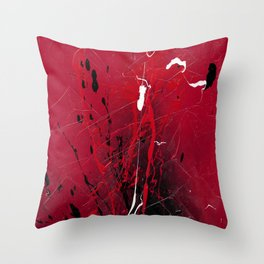 Rising - abstract painting by Rasko Throw Pillow