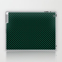 Black and Lush Meadow Polka Dots Laptop & iPad Skin