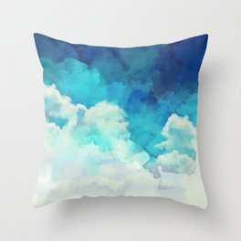 Absract Watercolor Clouds Throw Pillow