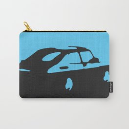 Saab 900 classic, Light Blue on Black Carry-All Pouch