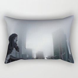 Digital Orca Amidst The Fog Rectangular Pillow