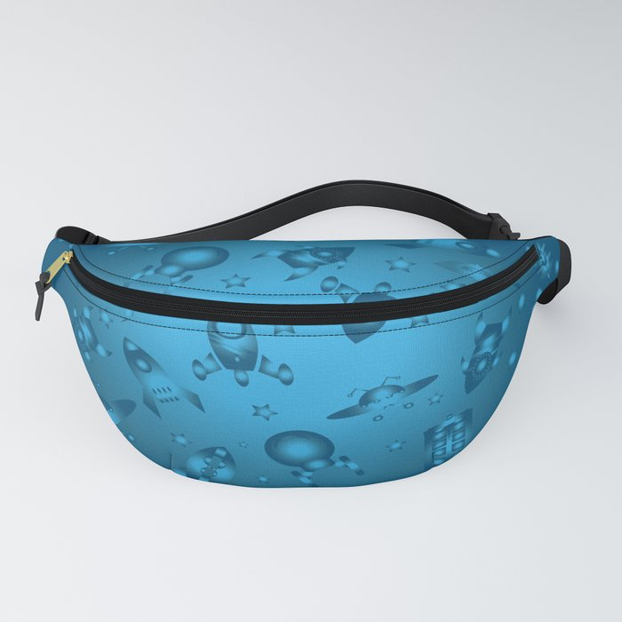 Space Ship Jamboree in Blue Fanny Pack