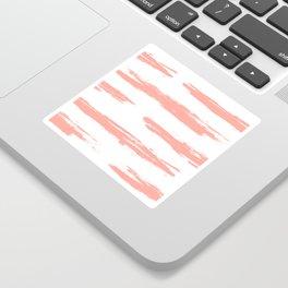 Pretty Pink Brush Stripes Horizontal Sticker