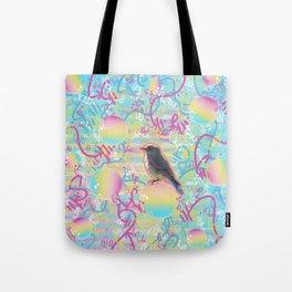 Summery Bubbly Bird Tote Bag