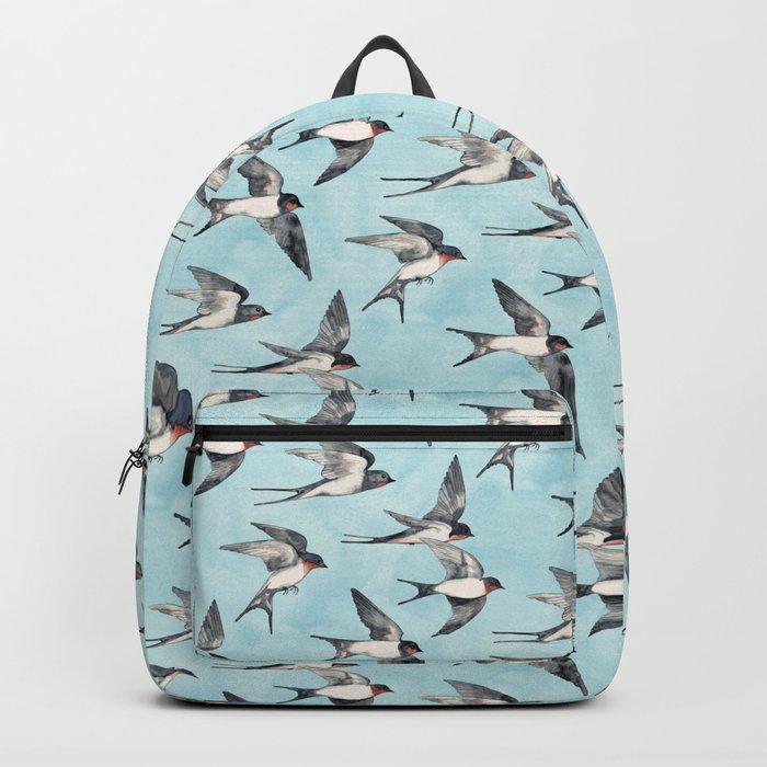 Blue Sky Swallow Flight Backpack