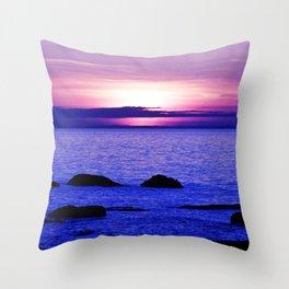 Dusk on the Saint-Lawrence Throw Pillow