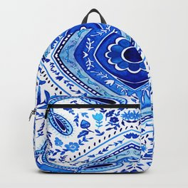 Indigo Mandala Tapestry Pattern 2 Backpack