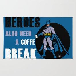 Bat comics heroe coffe break Rug