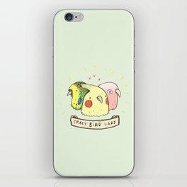 Crazy Bird Lady iPhone Skin