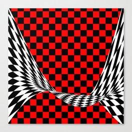 Schwarz rot weiss Canvas Print