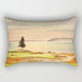 Chambers Bay Golf Course 15th Hole Rectangular Pillow