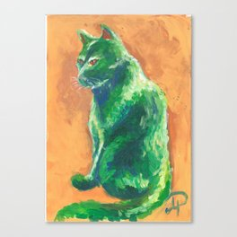 Green stalker #2 Canvas Print