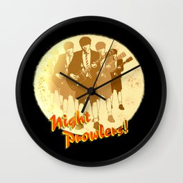 Night Prowlers! Wall Clock