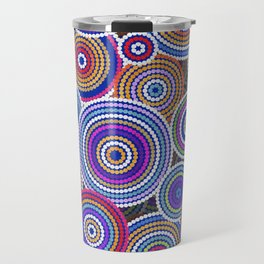 Colorfull Aboriginal Dot Art Pattern Travel Mug