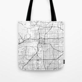 Tulsa Map White Tote Bag