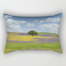 a solitary cork tree on the Alentejo plains Rectangular Pillow